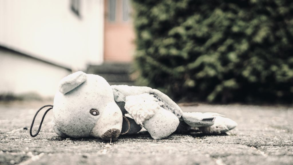 Broken teddy bear
