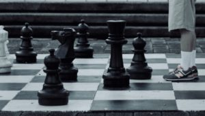 A man on the chess board