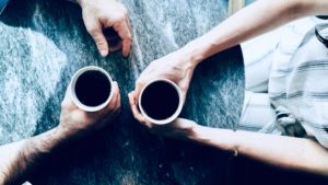 Coffee talk in a matrimonial quarrel