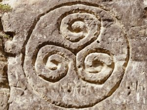 Triskelion carved in rock
