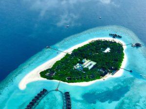 Bird's eye view of Baa Atoll, Maldives