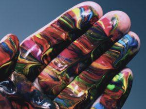 Multicolored hand