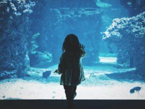 Girl in the aqua ; Musée océanographique de Monaco, Monaco