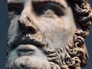 Bearded man statue, Metropolitan museum of art