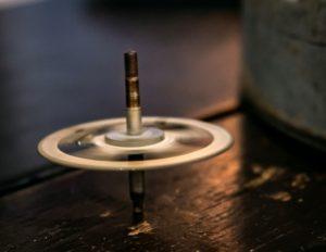 Clockwork spinner-Rotate— a creative toy made from a beautiful antique clock gear! Junkgirls, Monterey Street, San Luis Obispo, CA, USA