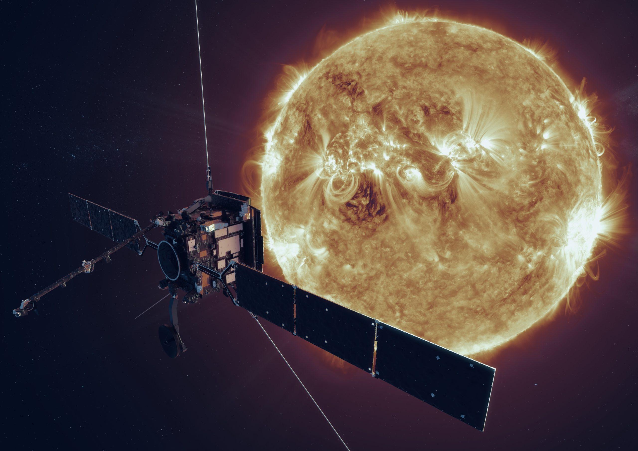 Artist's impression of ESA's Solar Orbiter spacecraft ; 17 October 2019 ESA/ATG medialab