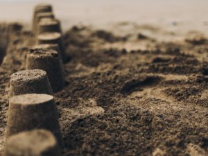 En la playa de arena; Las palmas de gran canaria, España